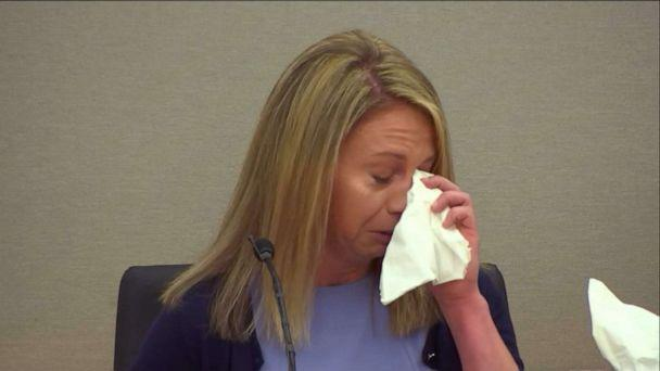 PHOTO: Amber Guyger cries on the stand during court proceedings, Sept. 27, 2019. (ABC News)