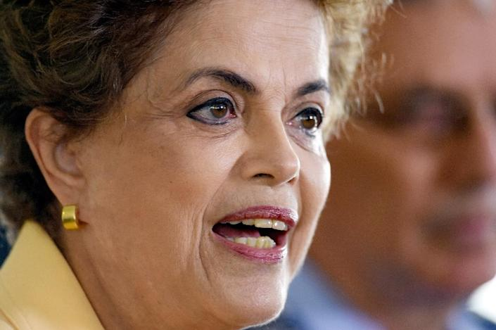 Brazilian President Dilma Rousseff gives a press conference on March 5, 2016 in Brasilia (AFP Photo/Evaristo Sa)