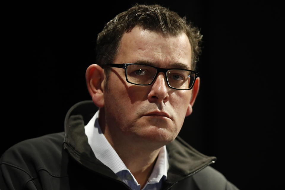 Victorian Premier Daniel Andrews has a concerned look on his face.