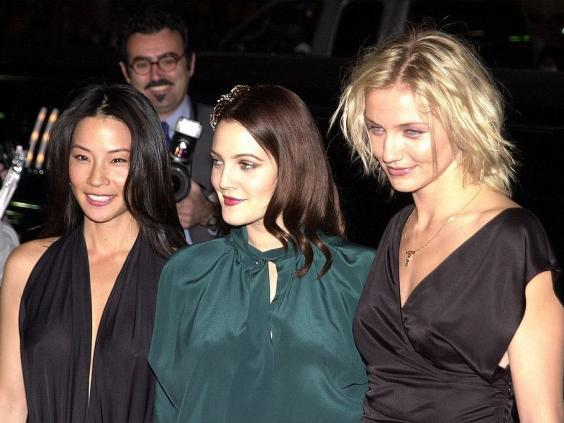 Sheer star power: Lucy Liu, Drew Barrymore and Cameron Diaz at the film's Hollywood premiere in 2000 (Getty)