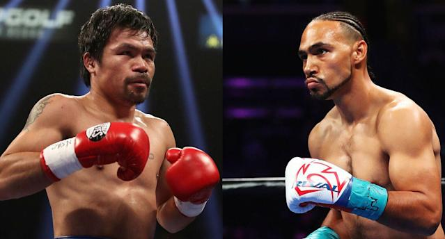 Manny Pacquiao Keith Thurman. (Getty Images)