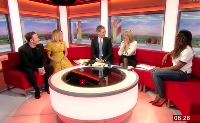 The couch was packed on BBC Breakfast. Photo: BBC Breakfast