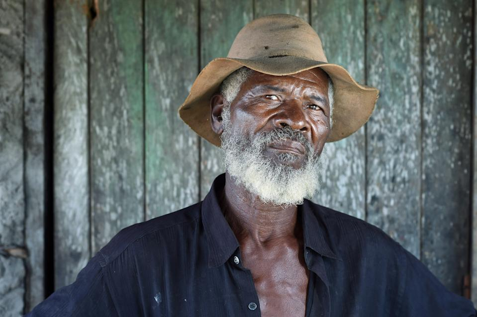 PERNAMBUCO STATE, BRAZIL - MARCH 19: Lourinaldo Alves Rodrigues, 68, poses for a portrait in Comunidade Quilombola do Serrote do Gado Bravo de Sao Bento do Una on Saturday March 19, 2016 in Pernambuco state, Brazil. The community was founded by former slaves. The Zika virus is rampant in the region. Lourinaldo lost his brother to complications from Chikungunya virus which is carried by the Aedes aegypti mosquito. The mosquito always carries the Zika virus. (Photo by Matt McClain/ The Washington Post via Getty Images)
