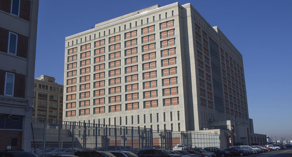The exterior of the Metropolitan Detention Center in Brooklyn, where Ghislaine Maxwell is being held.