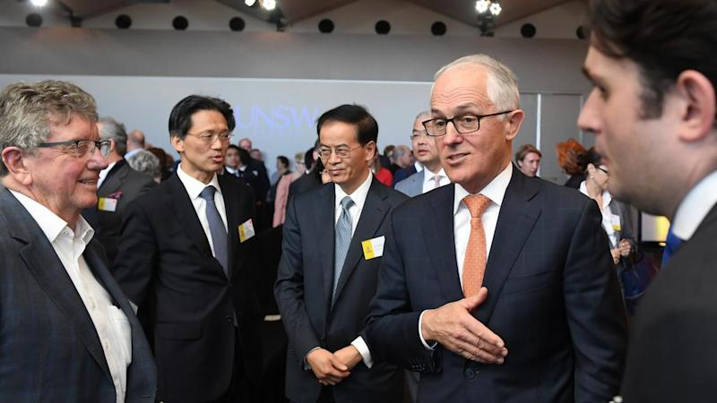 Prime Minister Malcolm Turnbull has sought to ease tensions with China during a speech in Sydney