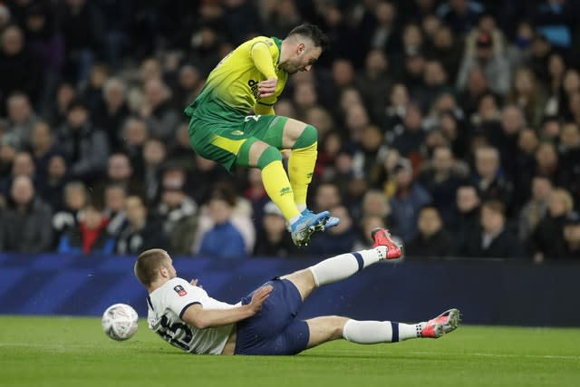 Eric Dier played the whole game for Spurs (Kirsty Wigglesworth/AP)