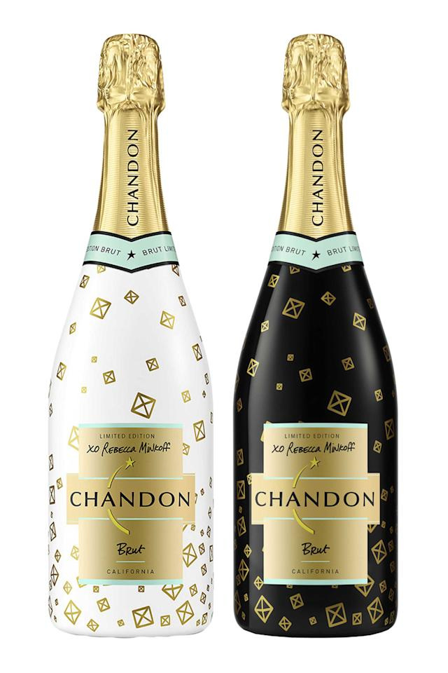 "<p>Sparkling wine is always a good gift for the holidays, and these black and white bottles designed by Rebecca Minkoff are already wrapped in the cutest holiday packing. </p><p><br></p><p><em><a rel=""nofollow"" href=""http://www.chandon.com/products/limited-edition-holiday-2016-white/"">Chandon Limited Edition Holiday 2016 White or Black</a>, $24 </em></p>"