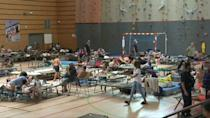 Evacuees find refuge in gym after wildfires in France's south