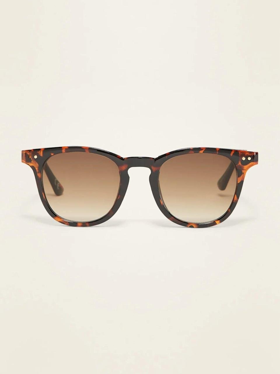 <p>These <span>Classic Thick-Framed Sunglasses</span> ($12, originally $15) will look good, no matter how they're styled.</p>
