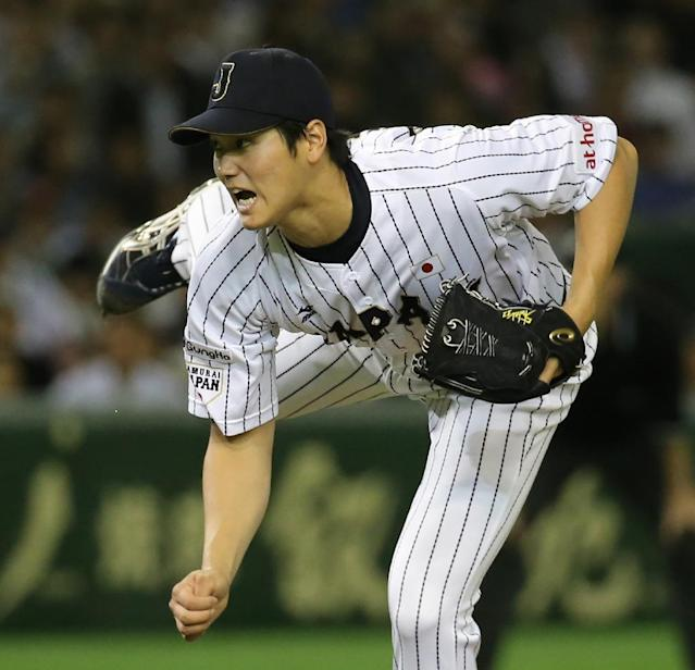 Nippon Ham Fighters pitcher Shohei Otani, pictured in 2015, will have the opportunity to play Stateside between November and March when his team makes him available for bids from Major League Baseball teams (AFP Photo/)