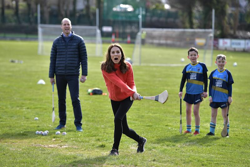 Prince William and Kate didn't hold back on their trip to Salthill GAA club. Photo: Getty Images