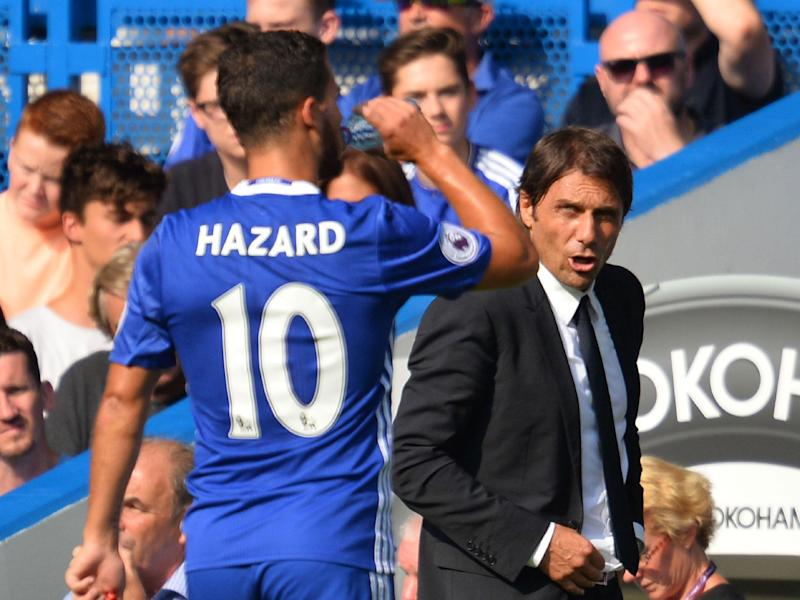 Antonio Conte has called on Eden Hazard to snub Real Madrid's advances: Getty