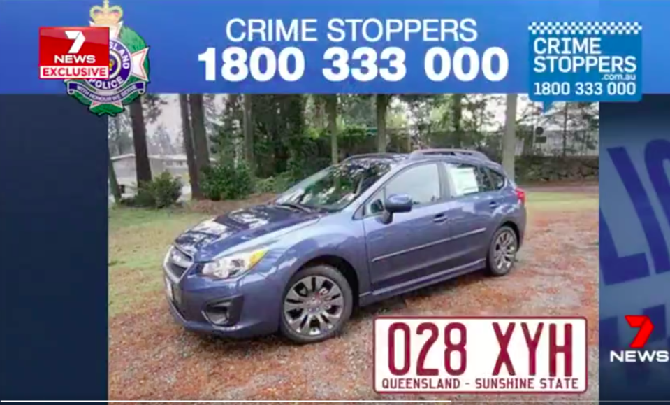 The man took off in a Subaru similar to this one. Source: 7 News