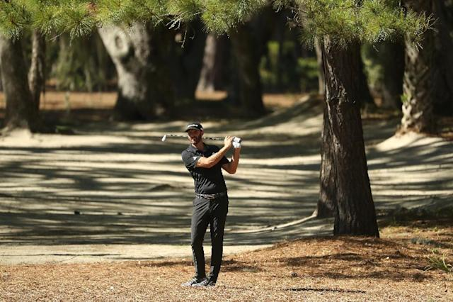 World number one Johnson spent a lot of time in the trees on Sunday (AFP Photo/STREETER LECKA)