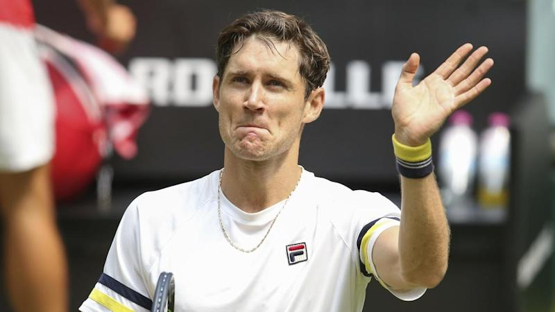 Australia's Matthew Ebden has reached his first-ever grand slam third round at Wimbledon