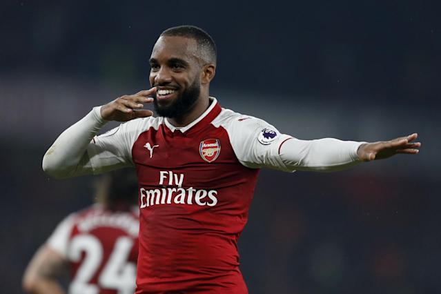 "<a class=""link rapid-noclick-resp"" href=""/soccer/players/alexandre-lacazette/"" data-ylk=""slk:Alexandre Lacazette"">Alexandre Lacazette</a> will be a key player in the North London Derby. Or will he? (Evening Standard)"