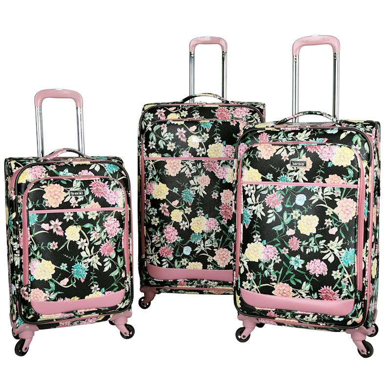 Kensie Le Jardin Collection 3-piece Soft-Side Spinner Luggage Set. (Photo: Walmart)