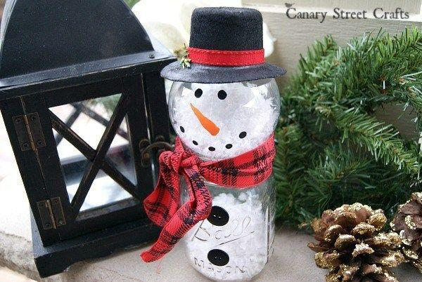 """<p>You can still make a snowman without snow! Just use a Mason jar instead.</p><p><strong>Get the tutorial at <a href=""""https://canarystreetcrafts.com/mason-jar-snowman/"""" rel=""""nofollow noopener"""" target=""""_blank"""" data-ylk=""""slk:Canary Street Crafts"""" class=""""link rapid-noclick-resp"""">Canary Street Crafts</a>. </strong></p><p><strong><a class=""""link rapid-noclick-resp"""" href=""""https://www.amazon.com/Bigib-Gallons-Instant-Powder-Supplies/dp/B07DXRQSPH/?tag=syn-yahoo-20&ascsubtag=%5Bartid%7C10050.g.2132%5Bsrc%7Cyahoo-us"""" rel=""""nofollow noopener"""" target=""""_blank"""" data-ylk=""""slk:SHOP FAKE SNOW"""">SHOP FAKE SNOW</a><br></strong></p>"""