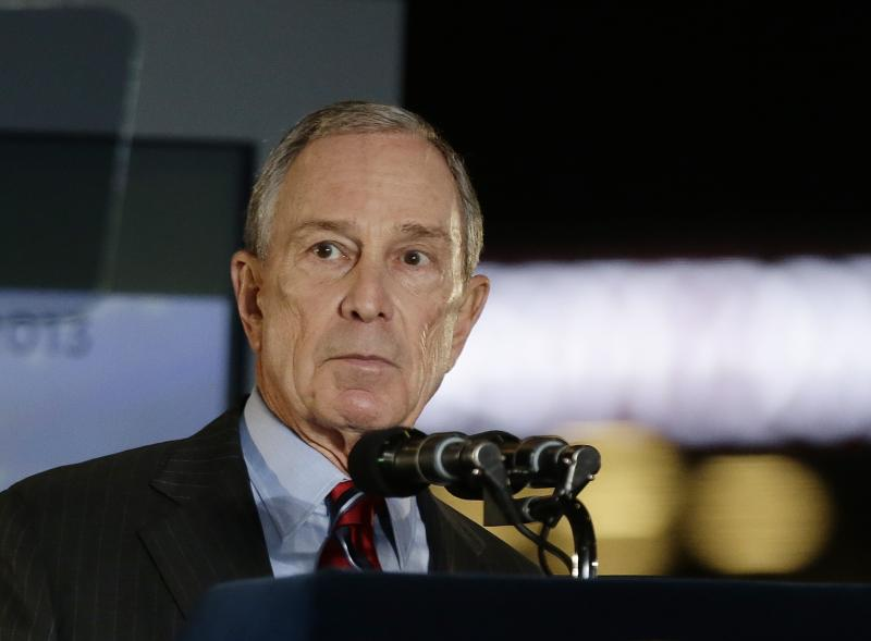 New York City Mayor Michael Bloomberg speaks during the State of the City address Thursday, Feb. 14, 2013, at the Barclays Center, Brooklyn's new arena, in New York.  His 12 years in office may be winding down, but Bloomberg says he has plenty of unfinished business he wants to get done.  (AP Photo/Frank Franklin II)