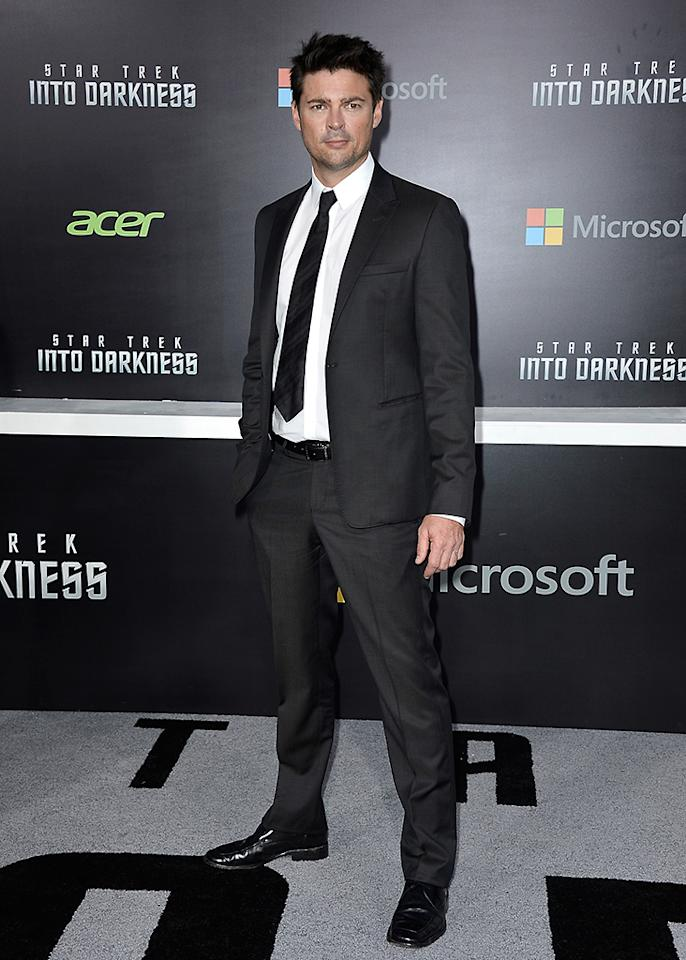 "HOLLYWOOD, CA - MAY 14:  Actor Karl Urban arrives at the premiere of Paramount Pictures' ""Star Trek Into Darkness"" at Dolby Theatre on May 14, 2013 in Hollywood, California.  (Photo by Frazer Harrison/Getty Images)"