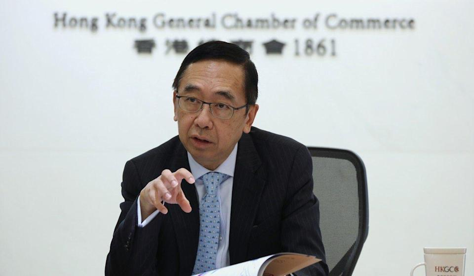 The General Chamber of Commerce CEO George Leung. Photo: Nora Tam