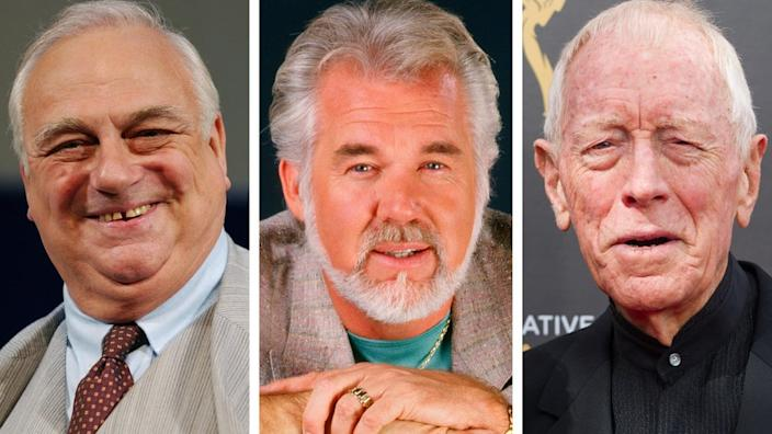 Roy Hudd, Kenny Rogers and Max Von Sydow
