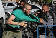 Israel deployed 2,000 extra police and cleared Palestinians from the area ahead of the march