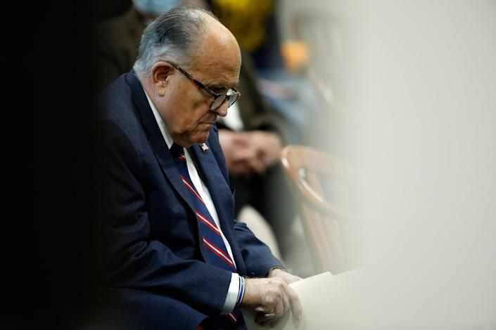 Rudy Giuliani has reportedly conceded that his associate emailed the Trump campaign about the fee in the days after the election (Jeff Kowalsky/AFP via Getty Images)