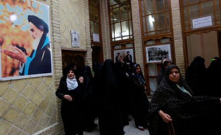 Iranian pilgrims visits the former home of the late Ayatollah Ruhollah Khomeini, in Najaf, Iraq February 9, 2019. Picture taken February 9, 2019. REUTERS/Alaa al-Marjani