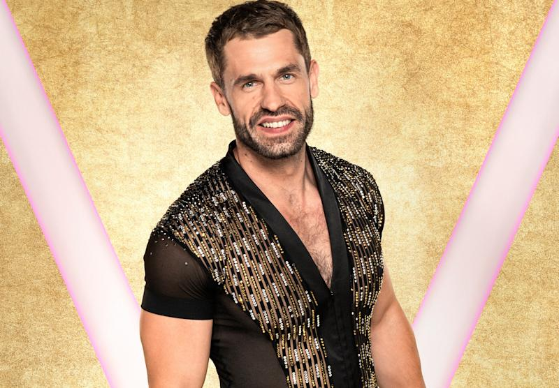 Kelvin Fletcher is in training for Strictly (Credit: BBC)