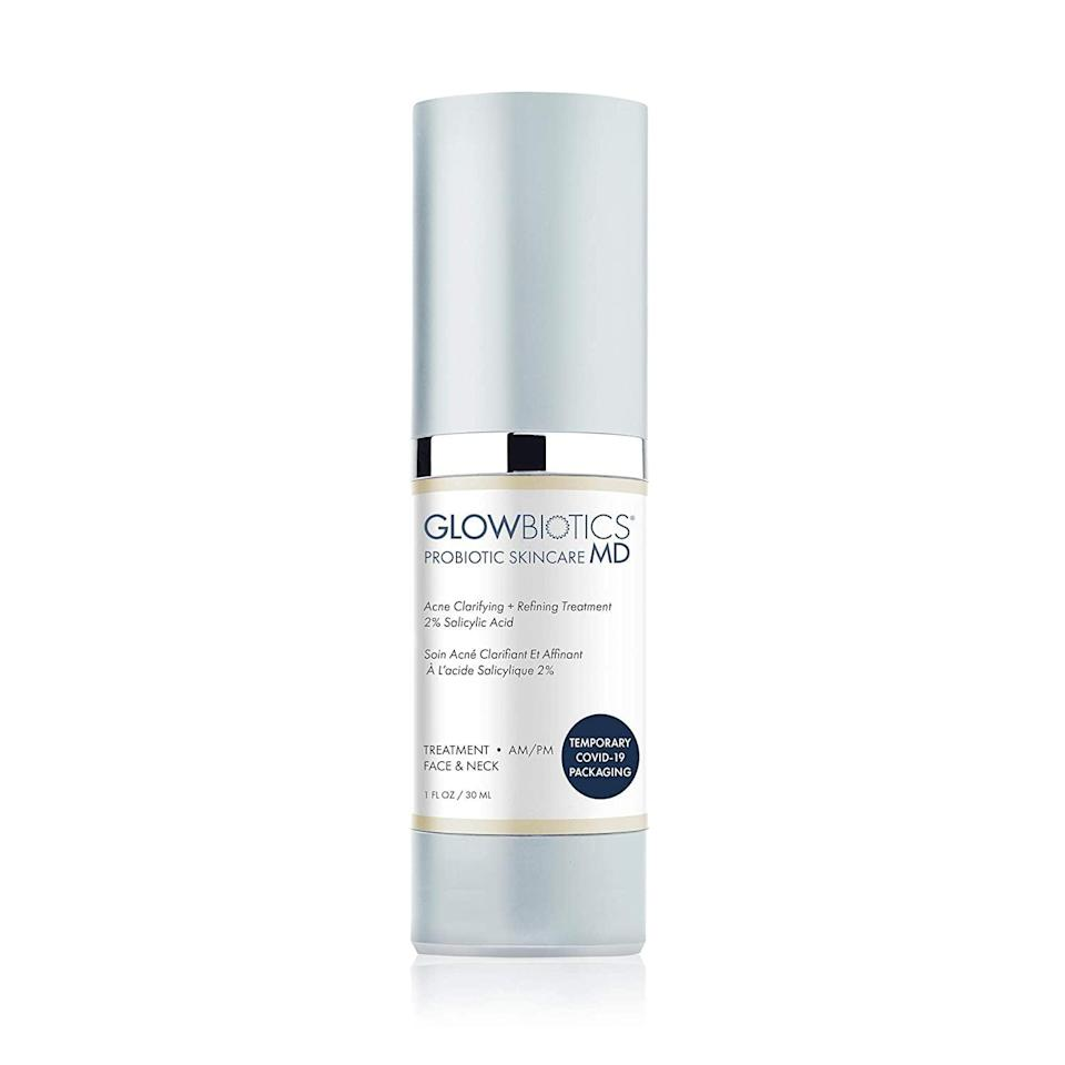 <p>If your skin is freaking out from maskne or hormonal breakouts, the <span>Glowbiotcs MD Probiotic Acne Clarifying + Refining Treatment</span> ($65) will take care of it and ease inflammation.</p>