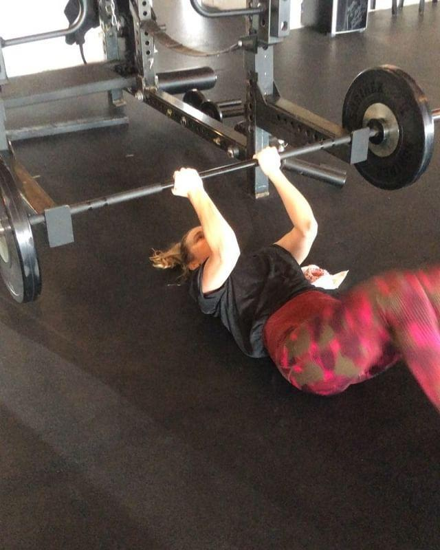 """<p><a href=""""https://www.womenshealthmag.com/uk/fitness/workouts/a35819770/reverse-crunch/"""" rel=""""nofollow noopener"""" target=""""_blank"""" data-ylk=""""slk:Reverse crunches"""" class=""""link rapid-noclick-resp"""">Reverse crunches</a> (when done with good form and technique) are great ways to target your core muscles and abdominals – a crucial area for good posture and health as we age. Here, Brie reps 'em out during a <a href=""""https://www.womenshealthmag.com/uk/fitness/workouts/a707720/gym-workout/"""" rel=""""nofollow noopener"""" target=""""_blank"""" data-ylk=""""slk:gym workout"""" class=""""link rapid-noclick-resp"""">gym workout</a> using a barbell for stability. </p><p>A strong core (your abs, lower back and pelvic floor) supports you through whatever type of exercise you like to do; helping to maintain correct positioning and keep you stable. So don't skip working on it. K?</p><p><a href=""""https://www.instagram.com/p/BqVGEeHj0Yq/"""" rel=""""nofollow noopener"""" target=""""_blank"""" data-ylk=""""slk:See the original post on Instagram"""" class=""""link rapid-noclick-resp"""">See the original post on Instagram</a></p>"""