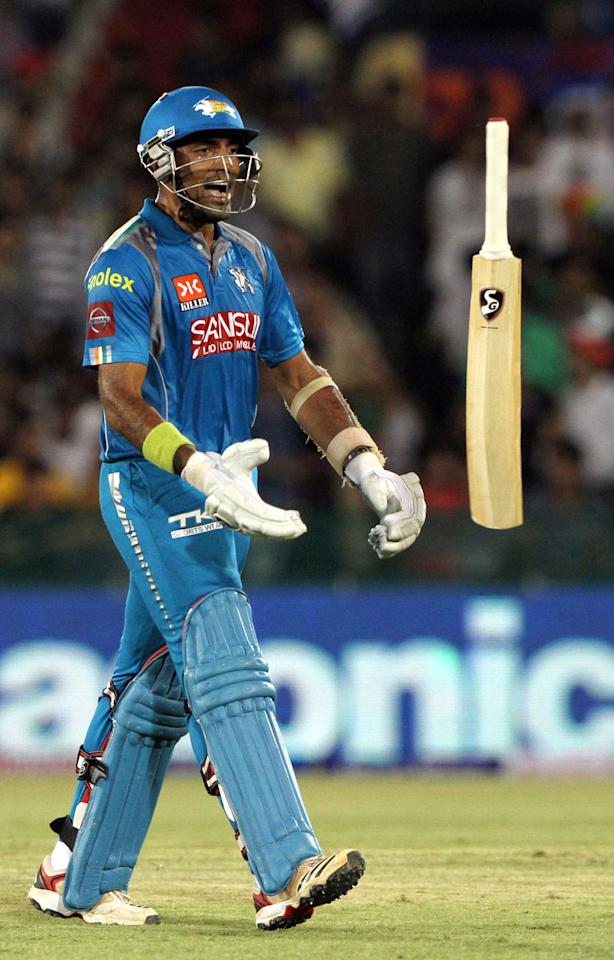 Pune Warriors player Robin Uthappa walk back to pavilion during match 39 of the Pepsi Indian Premier League between The Delhi Daredevils and the Pune Warriors India held at the Chhattisgarh International Cricket Stadium in Raipur on the 28th April 2013. (BCCI)