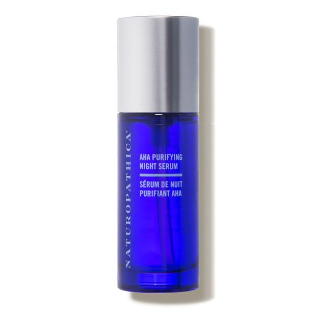 """<p>Naturopathica AHA Purifying Night Serum, $43.20 (from $54), <a href=""""https://shop-links.co/1712449073638858625"""" rel=""""nofollow noopener"""" target=""""_blank"""" data-ylk=""""slk:available here"""" class=""""link rapid-noclick-resp"""">available here</a>.</p>"""