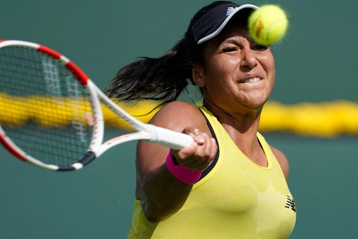 Britain's Heather Watson suffered an early exit in Indian Wells (AP Photo/Mark J. Terrill) (AP)