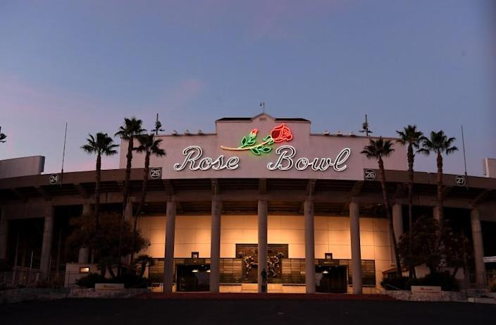 The Rose Bowl sits empty on New Years day.