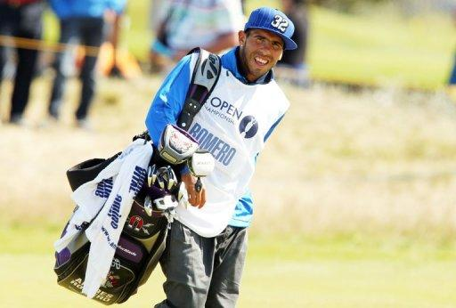 Andres Romero shot a 12 over par 82 with Carlos Tevez as his caddy today