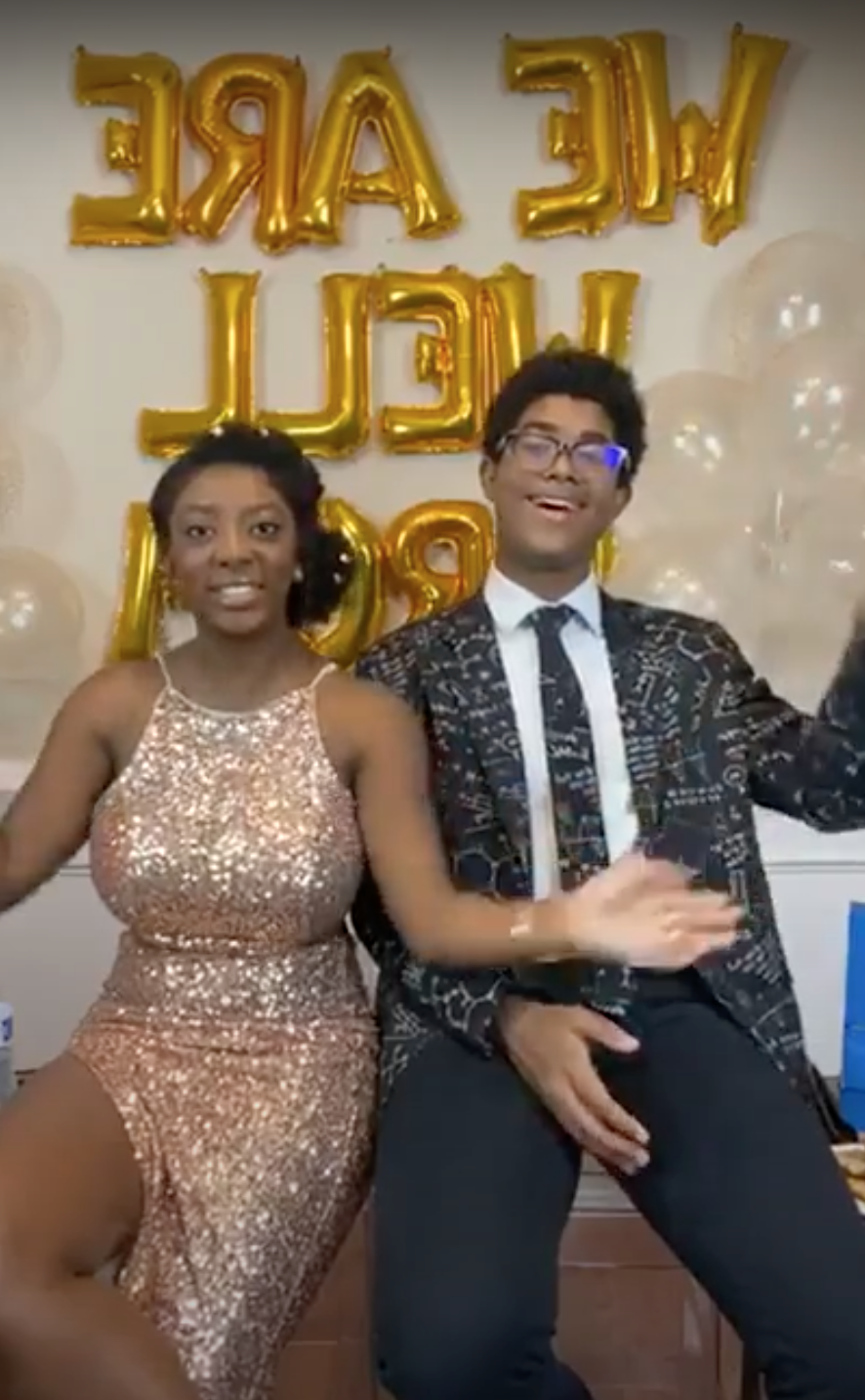 Siblings Hannah and Charlie Lucas hosted a virtual prom. (Photo courtesy of Hannah and Charlie Lucas)