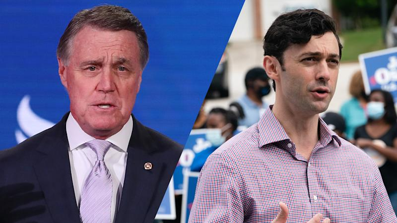 U.S. Sen. David Perdue (R-GA)/Jon Ossoff (Chip Somodevilla/Getty Images;Elijah Nouvelage/Bloomberg via Getty Images)