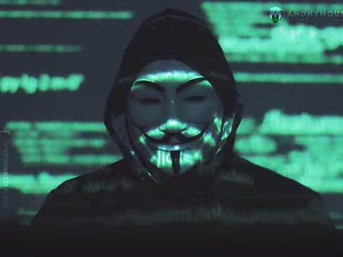 <p>A video featuring a Guy Fawkes-clad individual accused Elon Musk of ruining people's lives with his social media output</p> (Youtube/Anonymous)