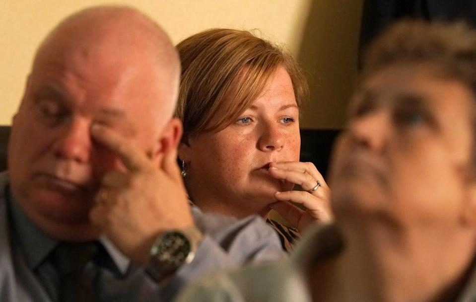 Peter McMahon, left, lost his wife Debbie at the age of 53 (Andrew Milligan/PA) (PA Wire)