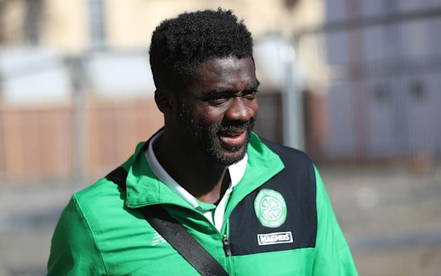 <span>Kolo Touré came off in the 87th minute as a replacement for Dedryck Boyata</span> <span>Credit: Ian MacNicol/Getty </span>