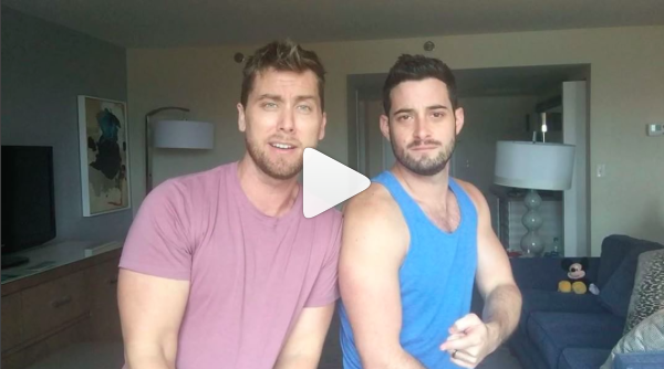 "Lance Bass resurrected NSYNC's ""Bye Bye Bye"" and we are squealing"