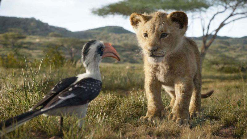 Young Simba roams the African plains in Jon Favreau's remake of 'The Lion King'. (Credit: Disney)