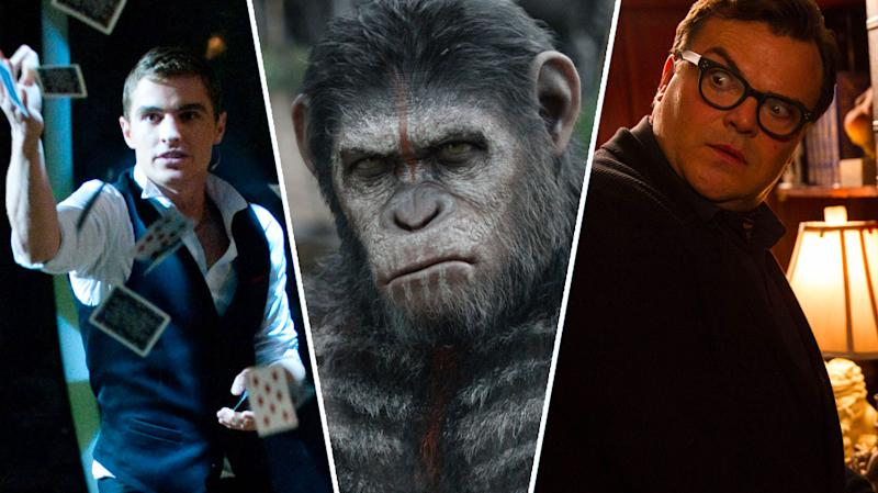 Now You See Me, Dawn of the Planet of the Apes, Goosebumps.