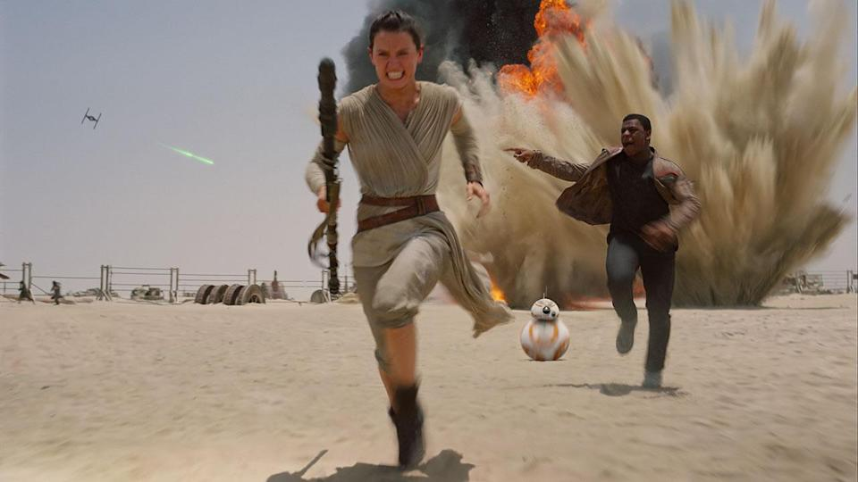 <p> The first movie released by Disney, Star Wars: The Force Awakens had a lot riding on it. Could this redeem the series after the prequels were, shall we say, mixed? Thank Yoda, then, that director J.J. Abrams managed to direct a movie that feels fresh yet also like a classic Star Wars movie. </p> <p> The Force Awakens re-establishes the visual language and boundaries of the Star Wars universe beyond the original trilogy. The good guys didn't win after the Emperor was defeated. Instead, life just kept going in the galaxy. Our beloved characters are old, ragged, and divorced (or whatever the glaxy far, far away's version is). Hope now lies in a bunch of new faces: the scrapper Rey, the rebel Stormtrooper Finn, and the slick flyer Poe. This is masterful storytelling that retreads ground, but also introduces enough new characters to launch an exceedingly excellent sequel trilogy. </p>