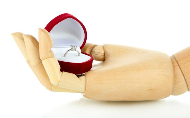One man's unique idea for asking for his girlfriend's hand in marriage has gone viral. (Photo: Getty)