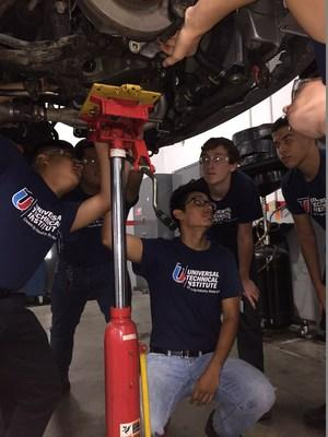 During Universal Technical Institute's free summer Ignite program, high school juniors learn automotive career skills and have the opportunity to earn course credit.