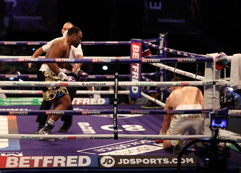 <p>Dereck Chisora sent Joseph Parker to the canvas but it wasn't enough</p> (Mark Robinson Matchroom Boxing)