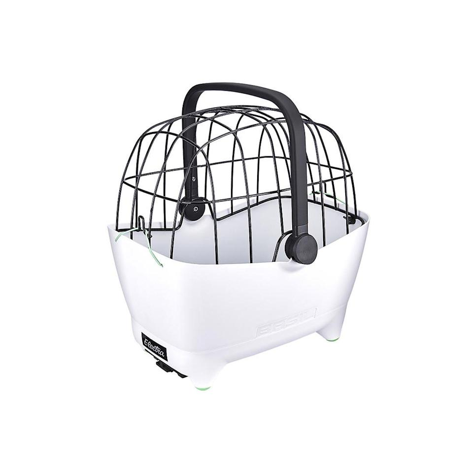 """<p>Bike rides through the park just got a whole lot cuter thanks to this safe and durable pet carrier that easily attaches to a bike's rack.</p> <p><strong>Buy it!</strong> Electra Basil Pet Carrier, $184.99; <a href=""""https://electra.trekbikes.com/us/en_US/equipment/bike-accessories/bike-bags-baskets-panniers/bike-baskets/electra-basil-pet-carrier/p/31938/?colorCode=white"""" rel=""""nofollow noopener"""" target=""""_blank"""" data-ylk=""""slk:Electra.TrekBikes.com"""" class=""""link rapid-noclick-resp"""">Electra.TrekBikes.com</a></p>"""